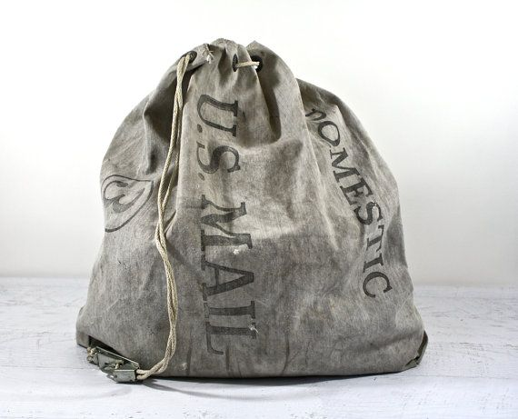 Vintage Mail Bag / Vintage US Postal Mail Bag / Canvas