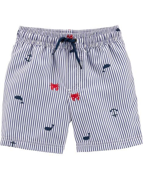 3c1493e98a Baby Boy Carter's Crab Swim Trunks from Carters.com. Shop clothing &  accessories from a trusted name in kids, toddlers, and baby clothes.