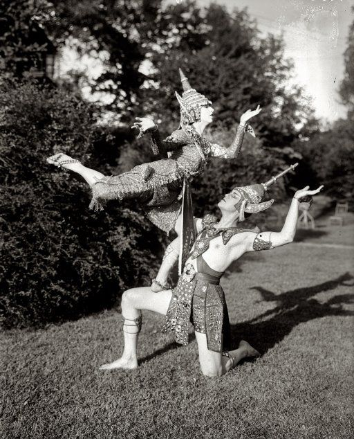 Ruth St. Denis and husband Ted Shawn, of the Denishawn dance company, strike a pose circa 1920.