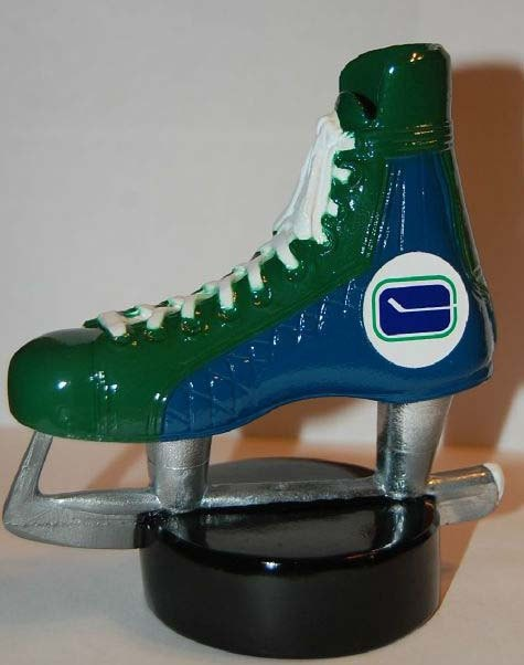 70's Vancouver Canucks  Hockey Skate PaperWeight/ by TheSkiLodge