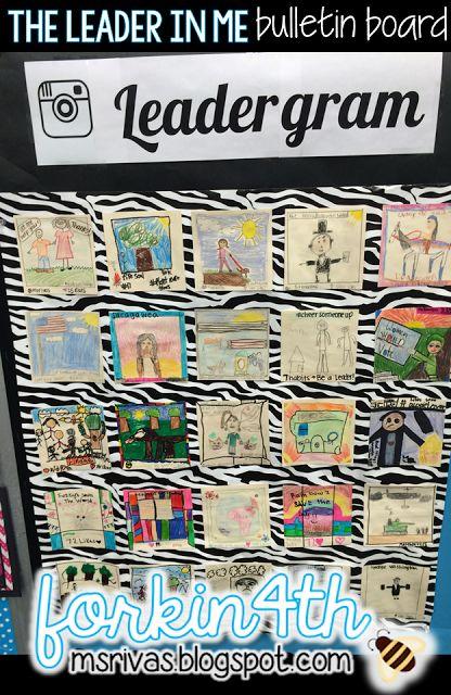 Inspiring Leaders with Leadergram! (Leader in Me Bulletin Board)