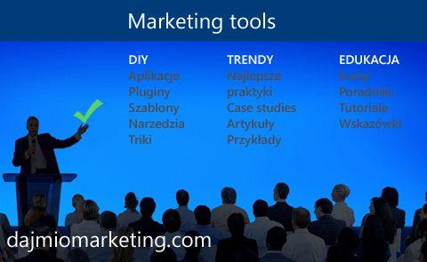DIY: aplikacje, pluginy, szablony, narzędzia, triki. TRENDY: najlepsze praktyki, case studies, artykuły, przykłady. EDUKACJA: kursy, poradniki, tutoriale, wskazówki.