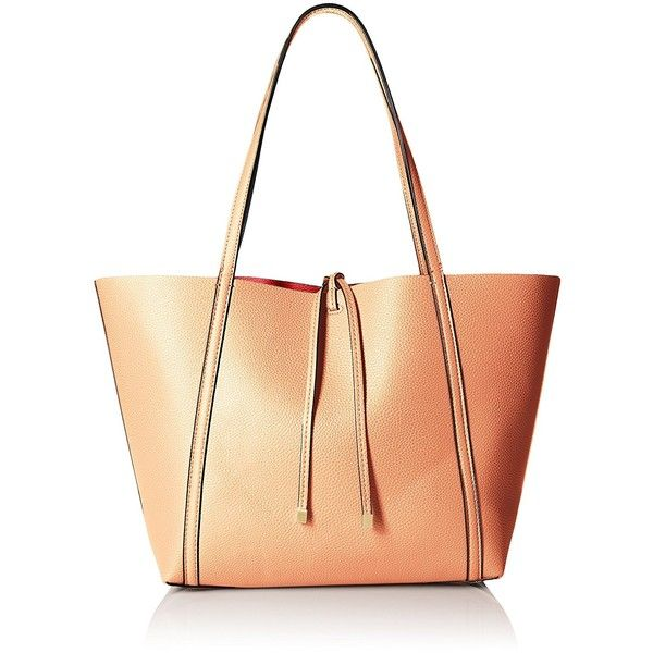 A X Armani Exchange Pebble Pu Tote ($82) ❤ liked on Polyvore featuring bags, handbags, tote bags, handbags totes, handbags tote bags, pu handbag, tote handbags and reversible handbag