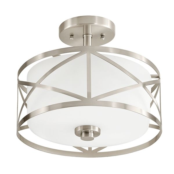 Shop Kichler Lighting  Edenbrook 11.38-in W Brushed Nickel Etched Glass Semi-Flush Mount Light at Lowe's Canada. Find our selection of semi flush ceiling lights at the lowest price guaranteed with price match + 10% off.
