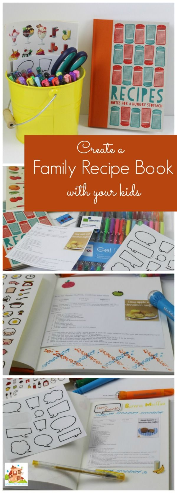 Tips for creating a family recipe book with the kids. As a family who looks to cook together, we decided to make a family cookbook to record all our recipes for the years to come and add new ones to.