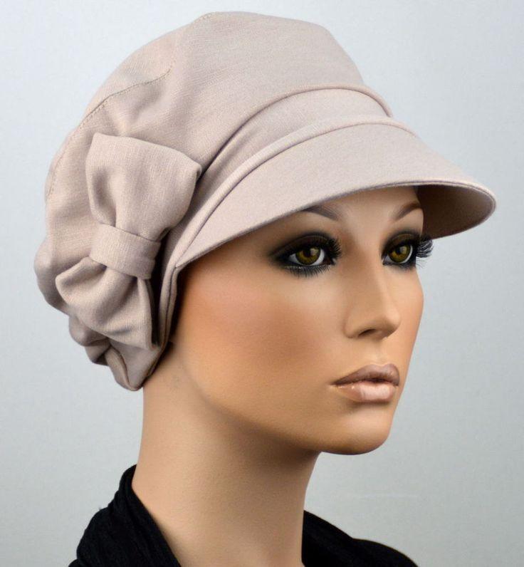 Damen Mütze ELEGANCA SCHIRMMÜTZE Chemo Ballonmütze Visor