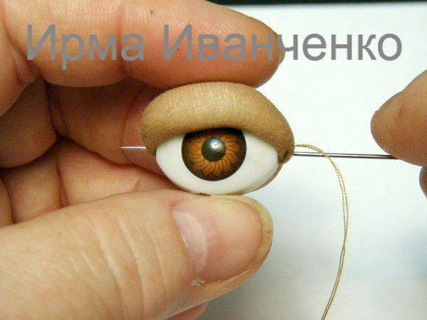 Как я устанавливаю глаза-рыбки куклам техника Скульптурный текстиль