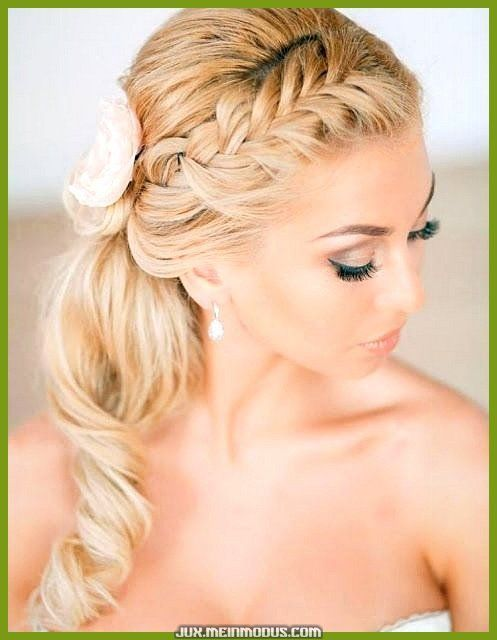 Fantastic bridal hairstyles sideways half open, #Brautfrisuren # sideways … – Simple hairstyles #Braided hairstyles #Hairstyles wedding #frisuren