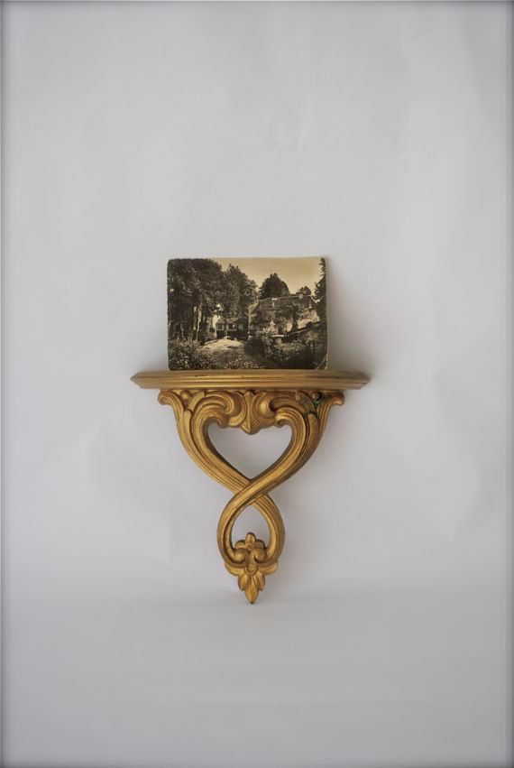 Vintage Ornate Gold Wall Shelf Home Decor This And That