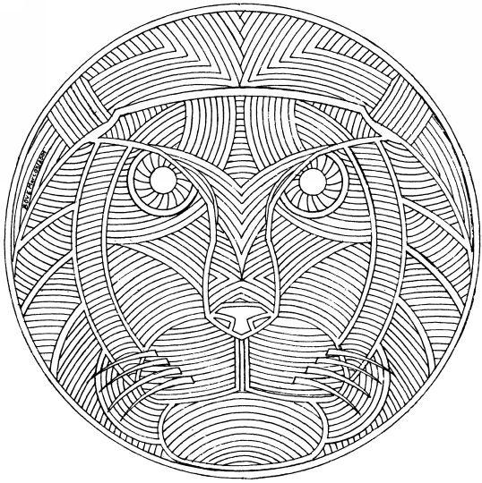 Mandalas animaux coloring book pinterest animaux - Mandalas animaux ...