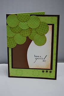 circle idea: Trees Ideas, Trees Cards, Cards Ideas, Tracy Cards, Trees Of Life, Cards Closet, Punch Art, Circles Punch, Stampin Up Cards