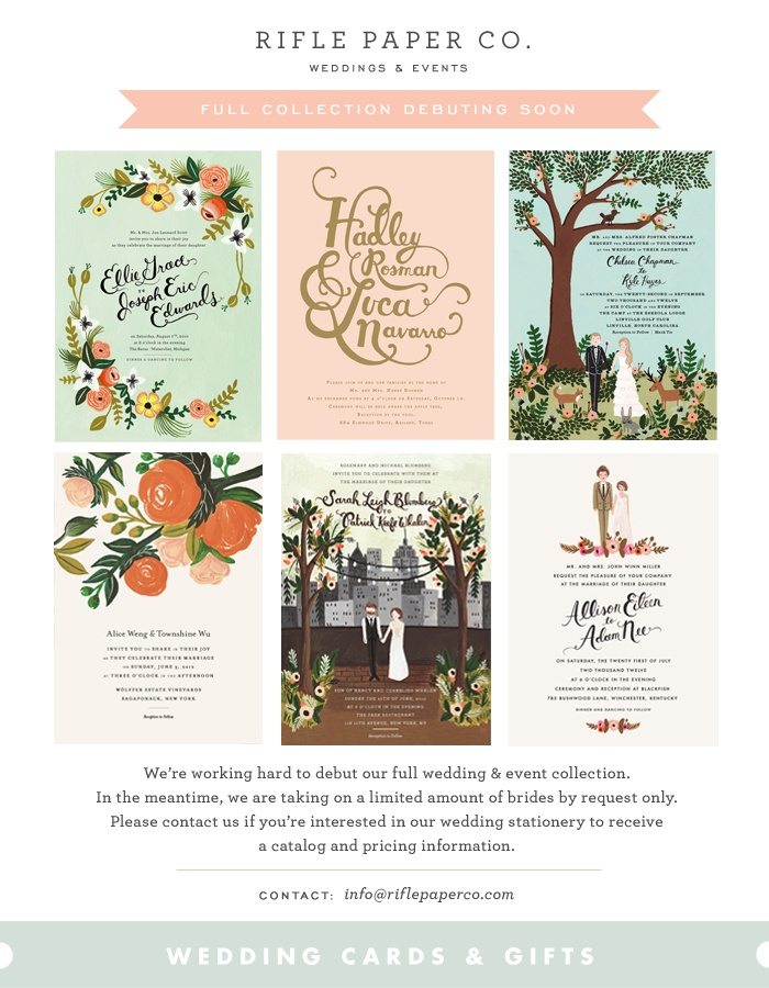 Rifle Paper Co. - Weddings