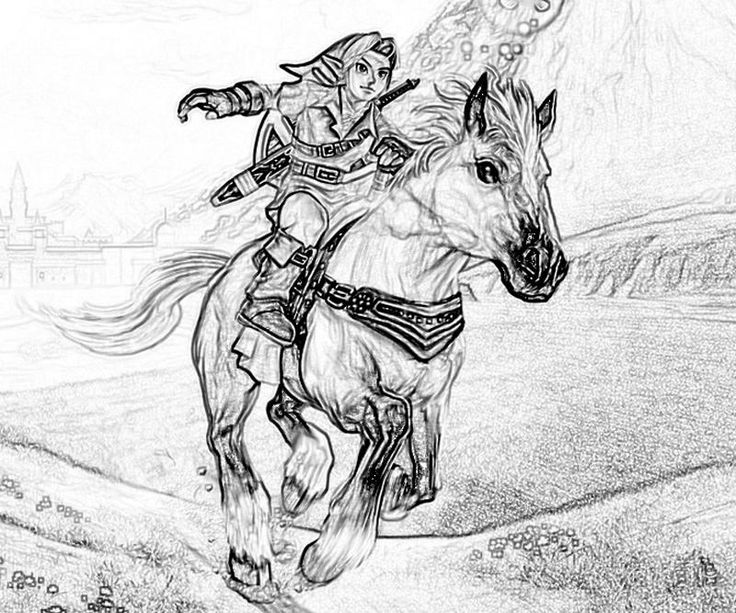 90 best legend of zelda coloring pages images on pinterest