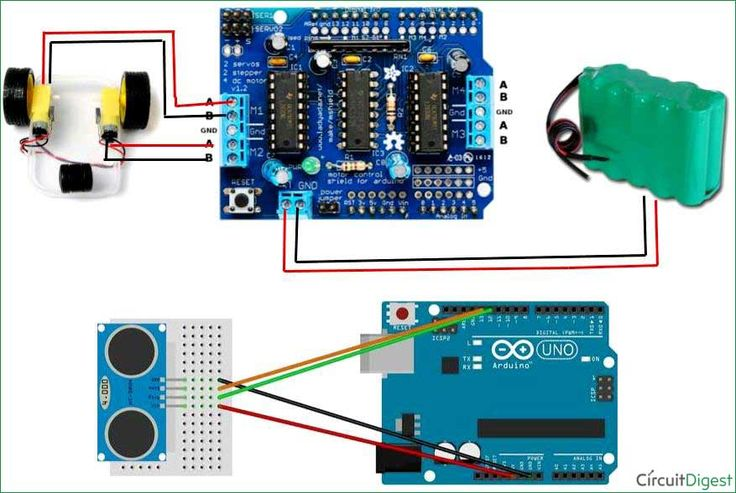 Automatic Floor Cleaning Robot Using Arduino Circuit