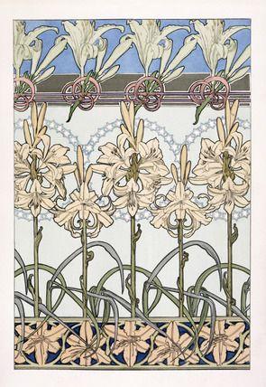 Mucha - Lilies