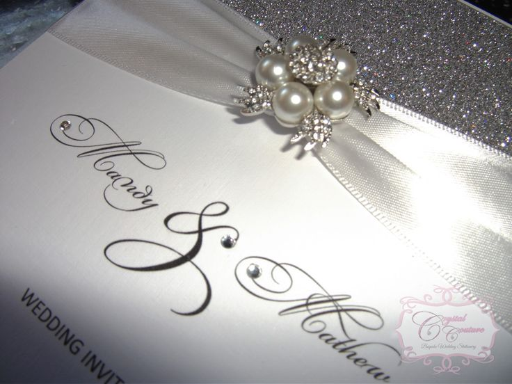 Crystal Couture Wedding Stationery Are Designers Of Elegant, Glitzy And  Modern Luxury Handmade Wedding Invitations