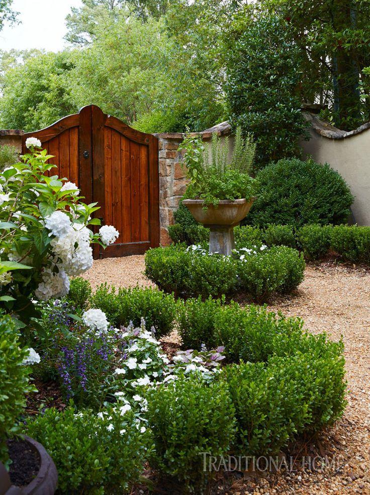 walled garden | An English Garden in Alabama | Traditional Home
