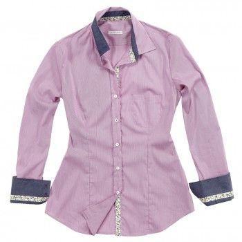 Camicia rosa con doppio tessuto effetto jeans sul colletto e sulle maniche.   Seguici anche su                           www.redisrappresentanze.it