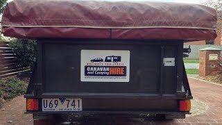 Caravan Hire 2008 MDC Camper Trailer 6/8 berth - Hired for just $80 per day Best Vans, Best Prices, Best Service www.caravanandcampinghire.com