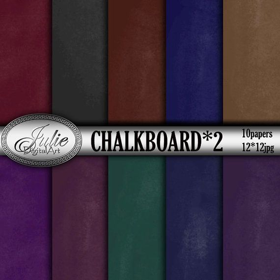 School board background Chalkboard digital от JulieDigitalArt