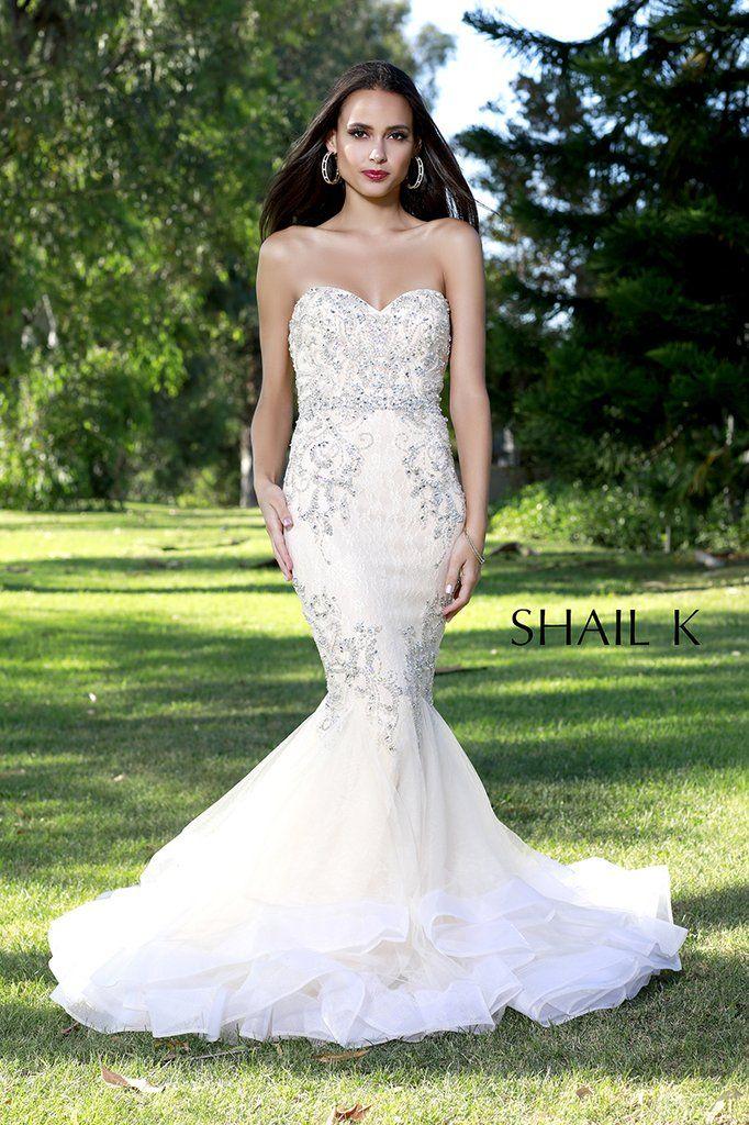 92767578f1060 Strapless Sweetheart Belted Embellished Mermaid Style Dress 33918  #dressoftheday #prom #ootd #shailkusa #fashion