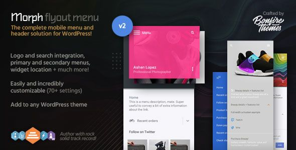 Morph: Flyout Mobile Menu for WordPress | Best Premium