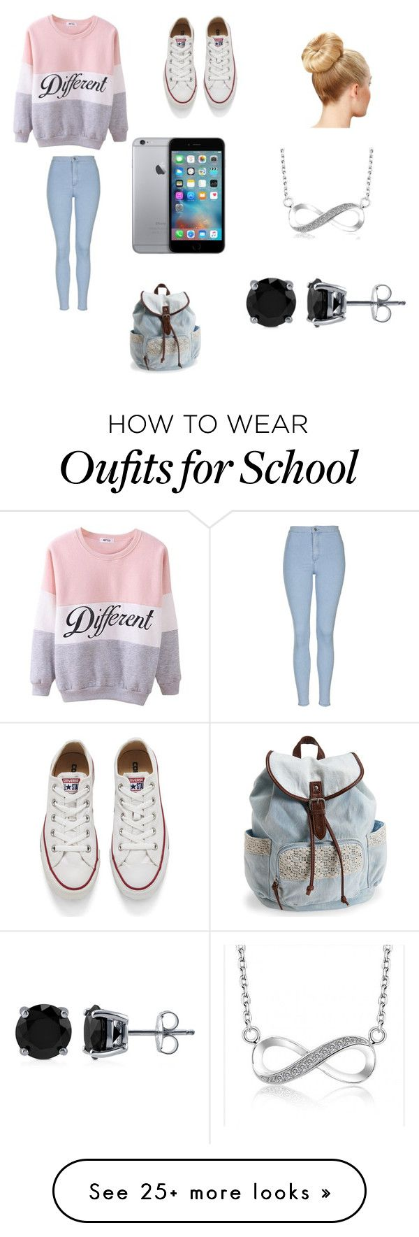 """""""My kind of school day"""" by starbucks-is-bae123 on Polyvore featuring Topshop, Converse, Aéropostale, BERRICLE, women's clothing, women, female, woman, misses and juniors"""