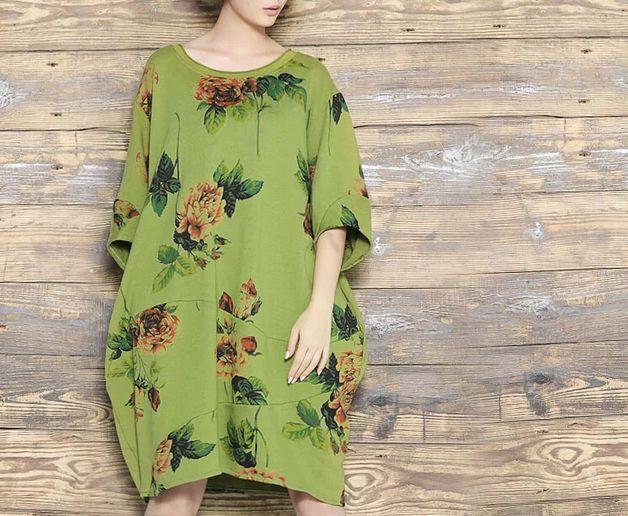 Abiti taglie forti - Donna Floral plus size abito 429 - un prodotto unico di MissJuan su DaWanda