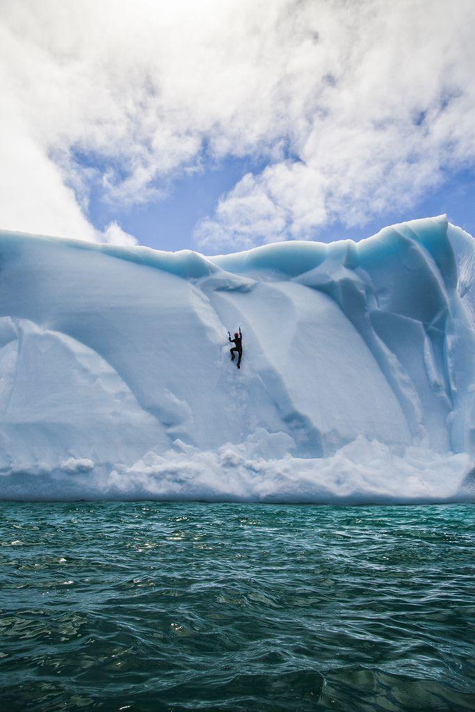 Ferryland Ice Wall, Newfoundland, Canada