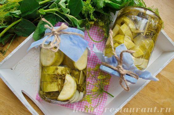 Консервированные кабачки  рецепт