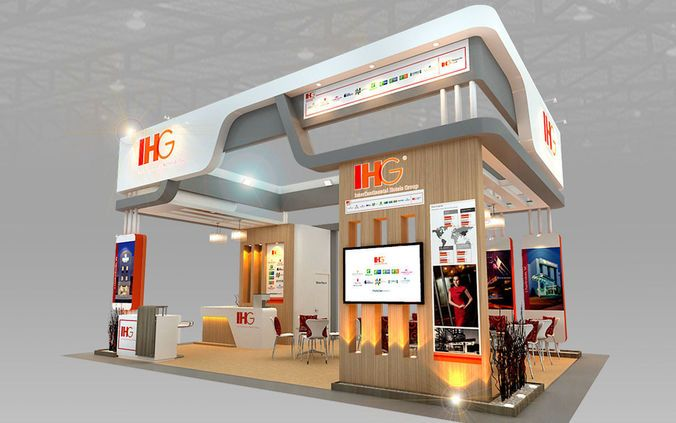 D Exhibition Stall Design Free Download : Ihg hotel booth design d model models interiors and