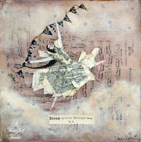 Whimsical Ballet  Dream Upon the Midnight Song by AFancifulTwist, $20.00