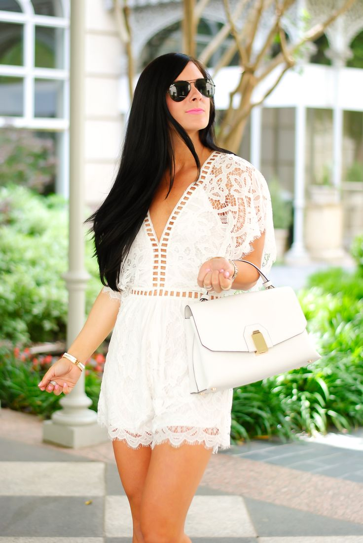 White Lace Romper - Gal About Town