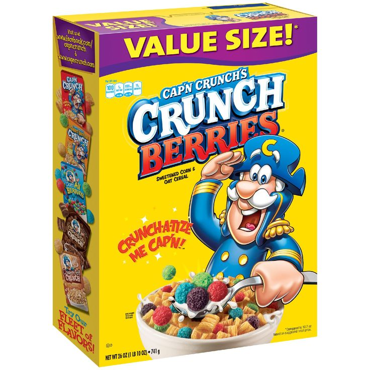Quaker Cereal, Crunch Berries, 26 Oz.