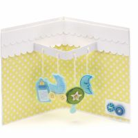 Card Ideas For New Baby   Baby Mobile Pop-Up