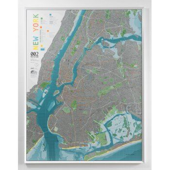 The Future Mapping Company New York City Map - Forest/Orange/Pewter - The Future Mapping Company from eggcup & blanket UK