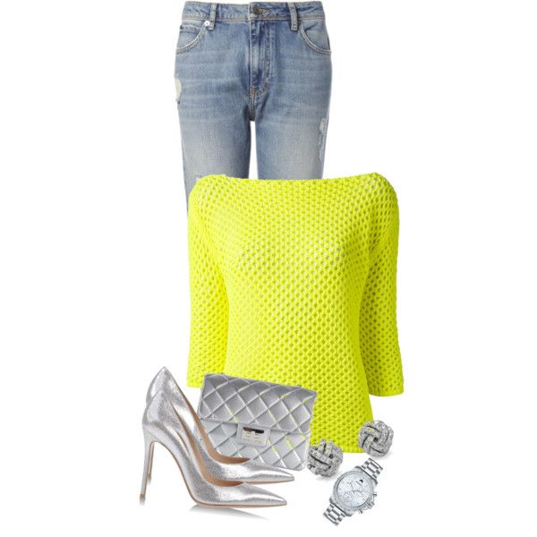 A fashion look from December 2014 featuring Pinko sweaters, Whistles jeans and Gianvito Rossi pumps. Browse and shop related looks.