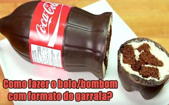 Como fazer bolo/bombom na garrafa de Coca #comofazer #receitas #cocacola #bolos #bombom #dicas