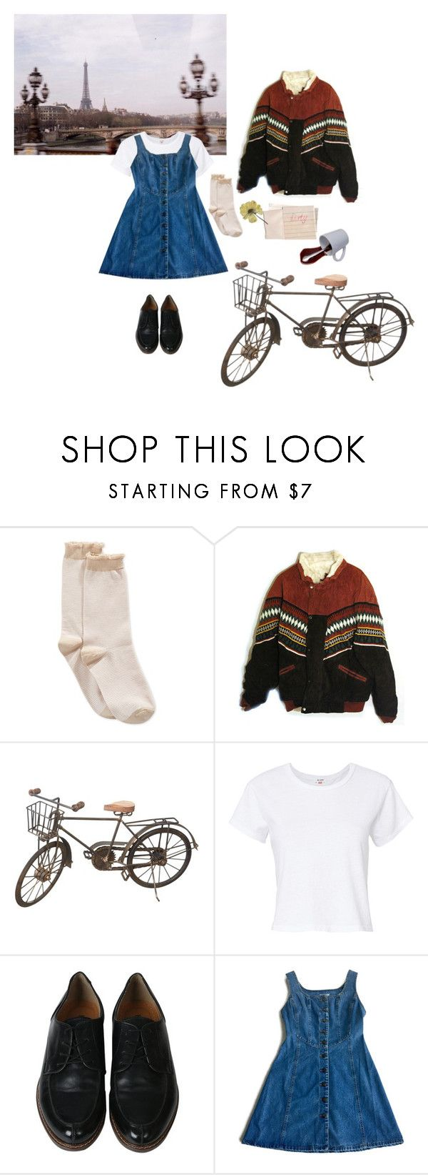 """lost in paris"" by beautyisterror ❤ liked on Polyvore featuring HUE, Hahn, Spy Optic and RE/DONE"