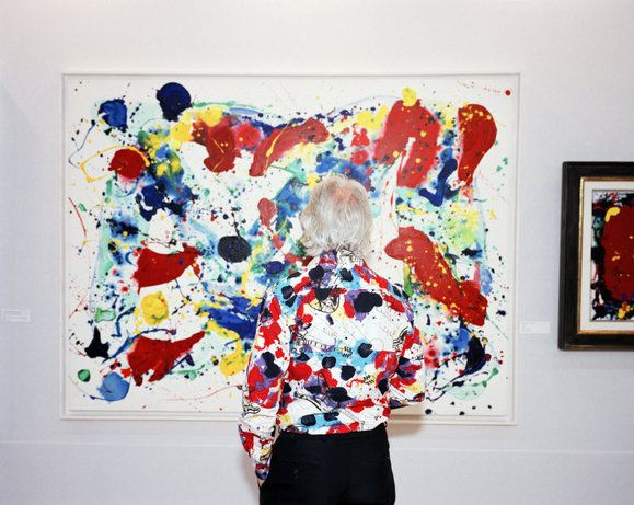 love sam francis...photo of course martin parr
