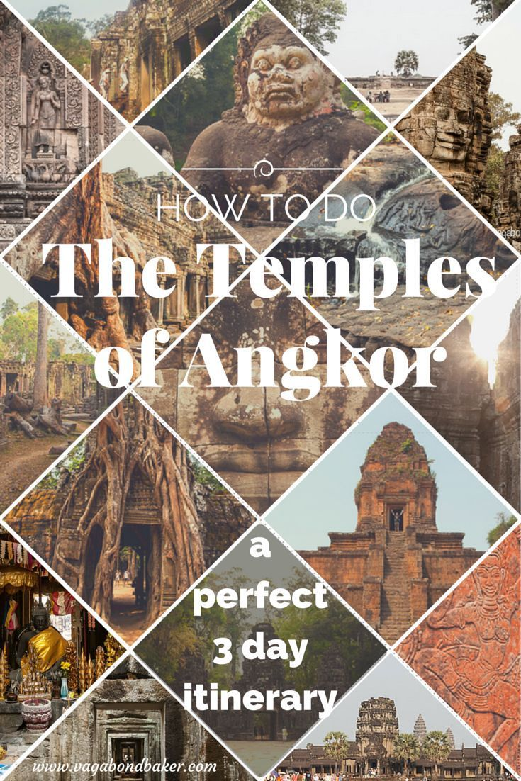 How to do the Temples of Angkor on a 3 day pass // perfect itinerary plus tips // Cambodia