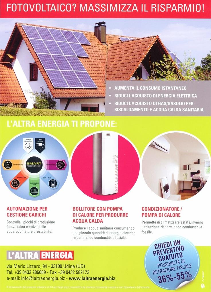 Fotovoltaico? Massimizza il risparmio!