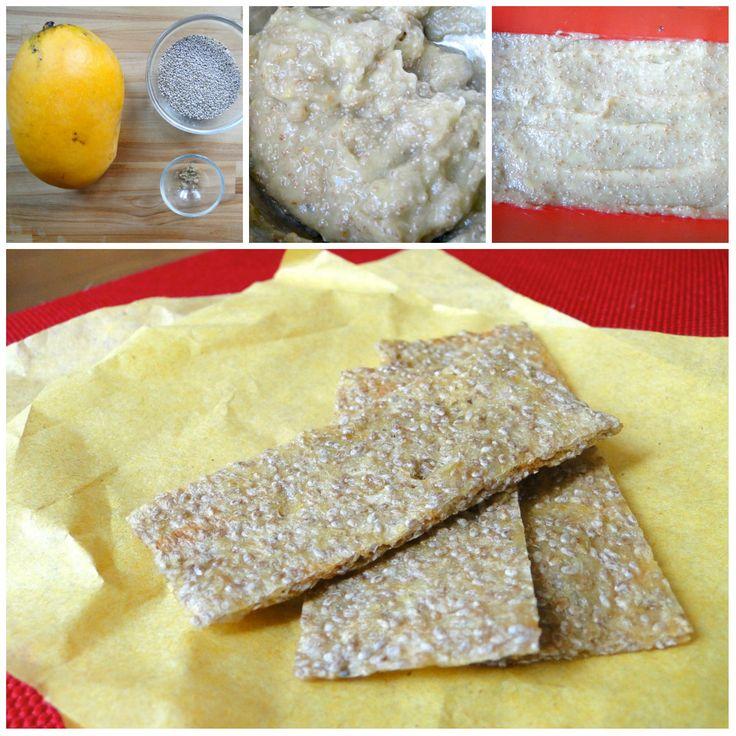 Crackers tous simples, aux graines de chia et à la mangue