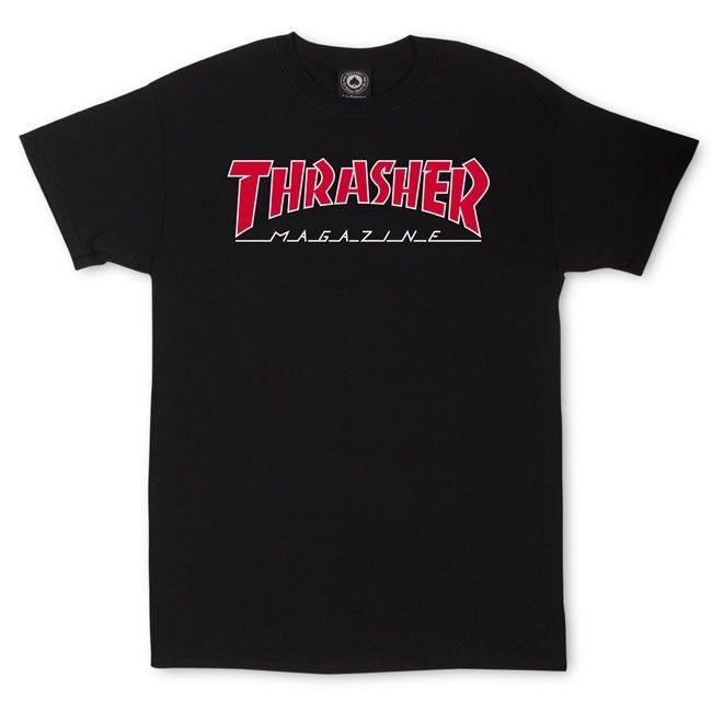 Thrasher Magazine Shop - Outlined T-Shirt Black