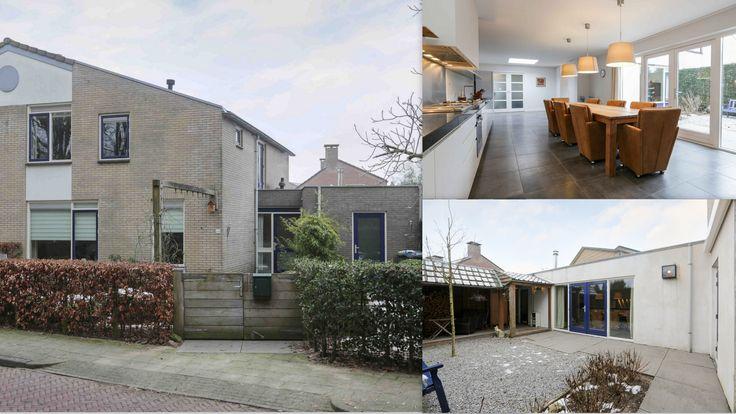 Jan Steenstraat 44 #Voorthuizen  Nabij het centrum vrij gelegen half vrijstaande woning met enorme woonkeuken! Mogelijkheid voor slaapkamer en badkamer op de b.g.g.
