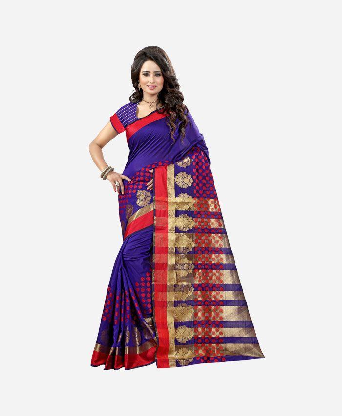 Banarasi Tussar Silk Sarees Online Shopping. Buy Gorgeous Purple Tussar Saree, Latest Designer Saree Online in USA, UK, Canada & India.
