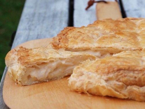 Buko Pie: Philippines (Luzon) custard pie with sliced young coconut.