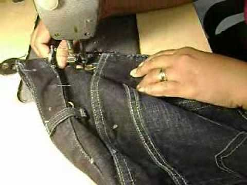 How to decrease the waistline on jeans...doing it right! I soooo need this for some of my jeans!!  :)