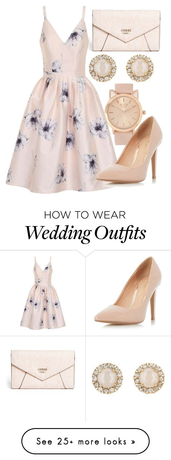 """Wedding guest"" by pixielover-771 on Polyvore featuring GUESS, Kate Spade, Chi Chi and Dorothy Perkins"
