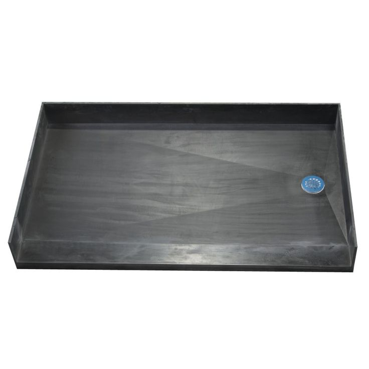 Tile Ready Shower Pan 35x54-inch Right Barrier Free PVC Drain